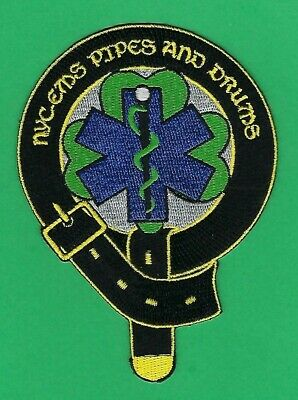 New York City Fire Department Emergency Medical Services Pipes & Drums Patch