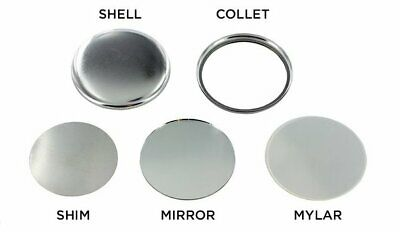 "2 1/4"" Badge-A-Minit Mirror -back Button Parts + Free Shipping -Choose Quantity"