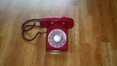 Vintage Western Electric Red Rotary  Phone -