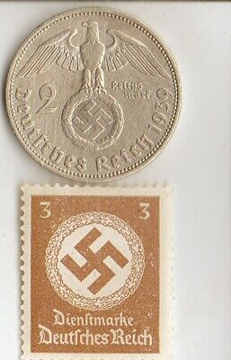 -Collection of Antique  Stamps  of *WW2- DICTATORS + *german  SILVER EAGLE coin