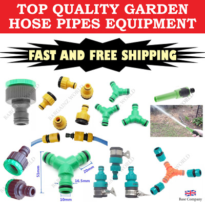 Universal Garden Watering Water Hose Pipe Tap Plastic Connector Adaptor Fitting,