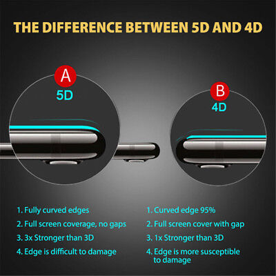 For iPhone 7 8 Plus - 5D Full Cover Curved Tempered Glass Screen Protec lj