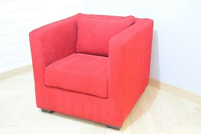 Armchair Club Shape Cube - Vintage - Years 80 - Design - Moderniste-Minimaliste