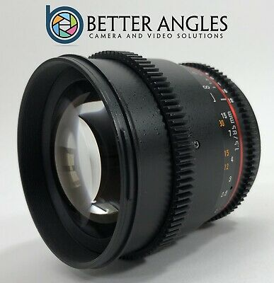 CANON Rokinon 85mm t1.5 AS IF CINE Lens-Risk Free Guaranteed!