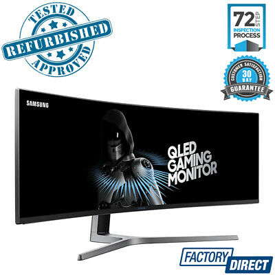"""Samsung 49"""" Dfhd Curved Quantum Dot Freesync Wide Monitor Screen Lc49Hg90Dmexxy"""