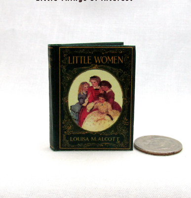 LITTLE WOMEN in 1:6 Scale Readable Illustrated Miniature Book Play scale