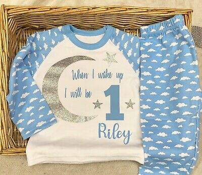 When I Wake Up I Will Be Baby Pyjamas Any Name Or Birthday Up To 7 Years