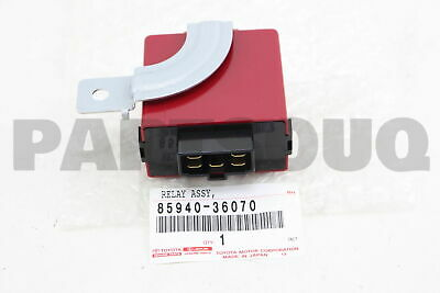 8594036070 Genuine Toyota RELAY ASSY, REAR WIPER 85940-36070