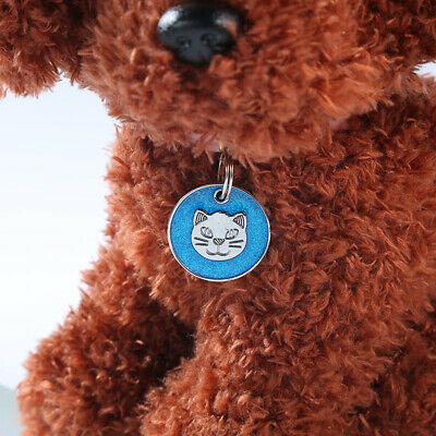 Round Metal Dog Cat Collar Name Tag Engraving Id Owner Address Key Ring Apt