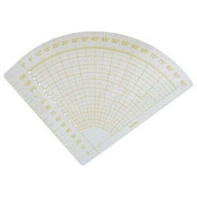 Professional Thin Equilateral Fan shaped Template Patchwork Ruler Cutting Tool