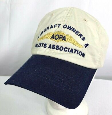 Aircraft Owners & Pilots Association Hat Cap AOPA Aviation Strapback RI51
