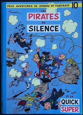 Spirou and Fantasio Tome 10 Les Pirates Du Silence Reissue 1964 Fine Condition