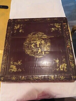 Antique Asian Chinese Japanese Lacquer And Gilt Robe Box