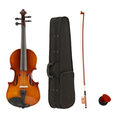 New 1/8 Natural Acoustic Practice Violin Fiddle Set with Case Bow Rosin Bridge