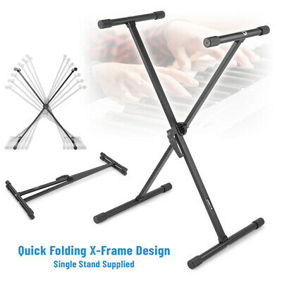 Electronic Piano Music Keyboard Stand Portable Adjustable X Frame Easy-Lock