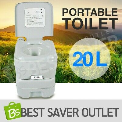 20L New Portable Toilet Boating Outdoor Camping Potty Travel Caravan 50 Flushes