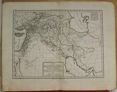 Israel Iran Middle East Iraq Armenia Arabia 1802 Mentelle/Chanlaire Antique Map