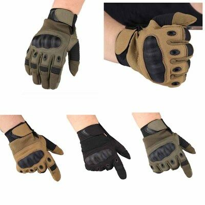 Touchscreen Tactical Cycling Motorcycle Combat Hard Knuckle Full Finger Gloves