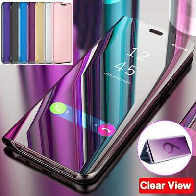 360° Mirror Clear View Wallet Case Cover for Samsung Galaxy S10 5G/A50 A60 A70