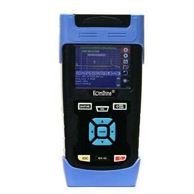 "QX-45 120KM OTDR Fiber Optic Tester 1310/1550nm Built-in VFL 3.5"" Screen sztop"