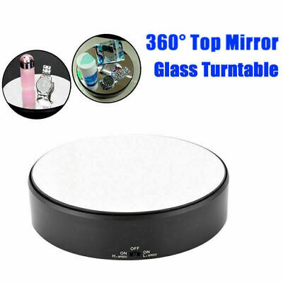 18cm 2KG Top Round Mirror Electric 360° Turntable Rotating Jewelry Display Stand