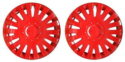 "OUTLET 2x14"" Wheel trims wheel cover for Caravan Trailer Jupiter 14"" Pair red"
