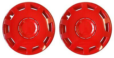 OUTLET 14'' Hub caps Wheel trims for Caravans with 14'' wheels red colour