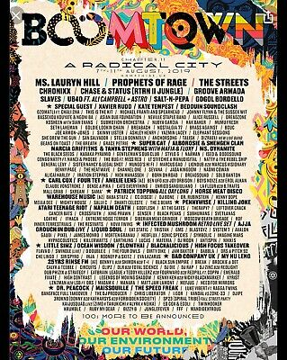 2019 Boomtown Festival Ticket Wed early entry 7-12 Aug 2019 Tier 3 Chapter 11