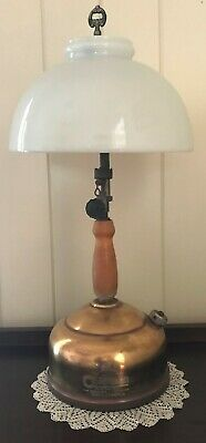 Vintage Coleman 159X Kerosene Table Lamp &Shade MADE CANADA 1/52 PICK UP/COURIER
