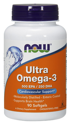 Ultra Omega-3, 500 EPA/250 DHA Now Foods 90 Softgel