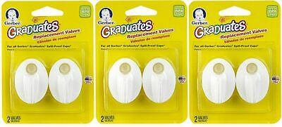 6 Pack - NUK Replacement Valves Gerber Graduate Spill Proof Sippy Cups
