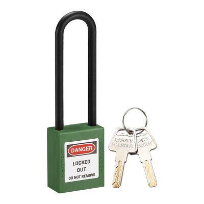 Lockout Tagout Locks, 3 Inch Shackle Key Different Safety Padlock Green