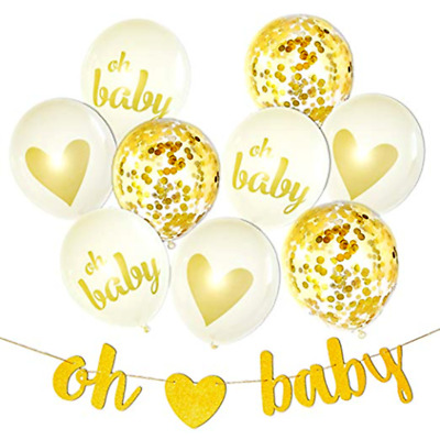 Oh Baby 10Pc Baby Shower Decorations Garland FIZ