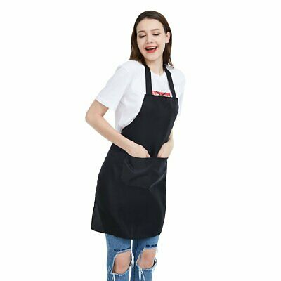 Black Bib Apron with Roomy Pockets FIZ