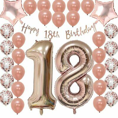 Ultimate 18th Rose Gold Birthday Balloon Pack 18 FIZ