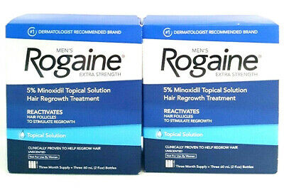 Rogaine Minoxidil Topical Solution Hair Regrowth EXTRA Strength Mens 6 month2021