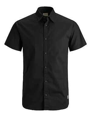Jack & Jones Mens Big Size Shirts Regular Fit Cotton Casual Short Sleeve 3XL-6XL
