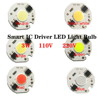 3W Smart IC Driver  Direct Power LED COB light Chip 110V 220V for DIY Wholesale