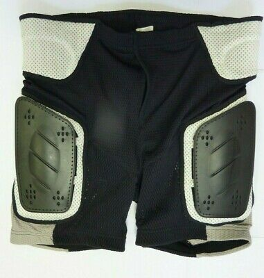 BNWT Men's  MotoCross MTB Protective Armour Under Shorts Ventilated Black Large