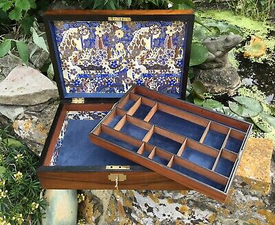 Antique Rosewood Jewellery Box Work Box Sewing Box 19th Century