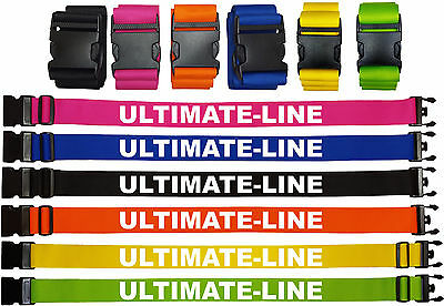 "Personalised Luggage Strap Belt 180cm x 2.5cm (1"") Custom Printed or Embroidered"