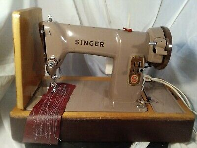 Singer 185k NEWmotor  ON MACHINE SERVICED PAT TESTED VIDEO SEWS LEATHER