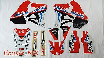 Honda CR250 1995-1996 CR125 1995-1997 NEW FLU PTS4 Graphics Stickers Decals