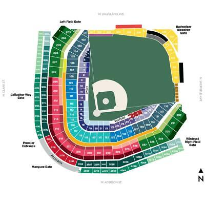 BUY 1 to 10  CHICAGO CUBS LOWER LEVEL INFIELD  vs. BREWERS- 8/4/19- Section 210