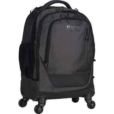 Kenneth Cole Reaction Roll On Back 4-Wheeled Double Rolling Backpack NEW