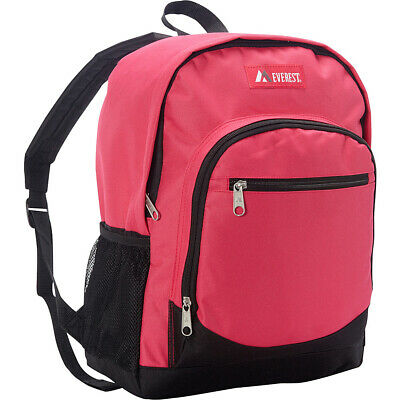 Everest Casual Backpack with Side Mesh Pocket 4 Colors Everyday Backpack NEW
