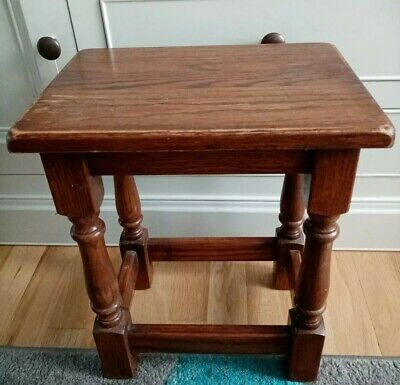 Vintage Rustic Side / Occasional Table / Stool Solid Wood