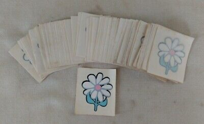 VTG Daisy Flower Transfer Decal Tattoo Lot of 103 1960s 70s Hippie Flower Power