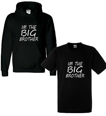 I'm The Big Brother Funny Kids Boys T-Shirt Tee Boys Hoody Childrens Bro Top