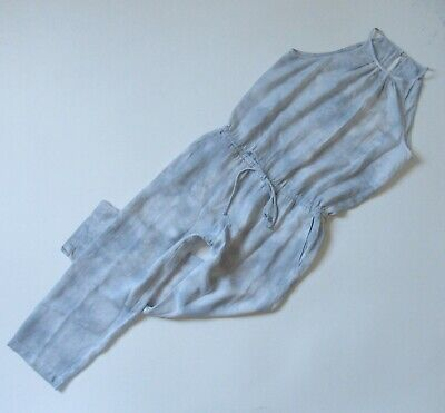 NWoT Anthropologie Cloth & Stone Ice Blue Tie Dye Sleeveless Cropped Jumpsuit XS